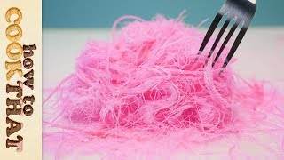Pink Edible Hair | Pashmak Recipe | Dragons Beard | Cotton Candy | How To Cook That - Video Youtube