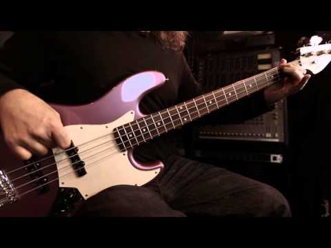 Quarter Pound Jazz Bass Pickups  `Steve Booke demonstrates the versatility of the Seymour Duncan SJB-3s Quarter Pound Jazz Bass pickup set.`