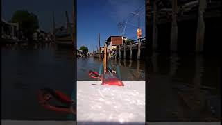 Explore the river with Rc Boat | Air boat Rear view #fpv #boat #short