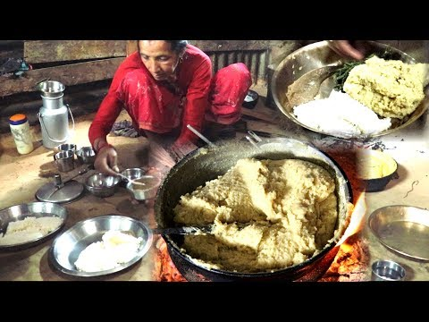 Cooking ढिँडो Dhido and Eating in Family || National Food of Nepal || Nuwakot , Talakhu village