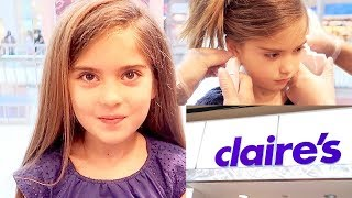 7 YEAR OLD GIRL'S EARS PIERCED: Does Piercing Your Ears Hurt?