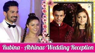 Drashti Dhami With Husband Neeraj Khemka At Rubina- Abhinav Wedding Reception