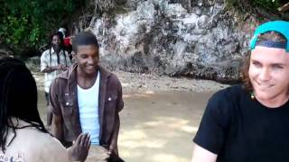 Mike rapping jamaicaa style with locals