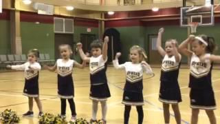 Abby cheering