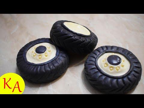 Как сделать колёса из мастики