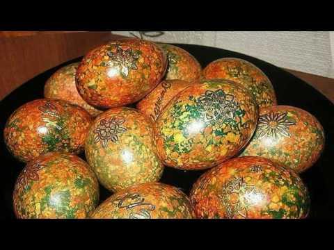 Яйца пасхальные крашенки мраморные.