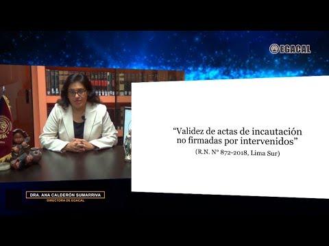 Validez de actas de incautación no firmadas por intervenidos - Luces Cámara Derecho 117