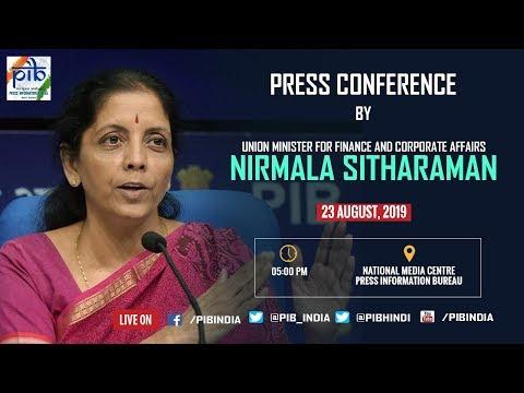 LIVE: Press Conference by Union Finance Minister Nirmala Sitharaman