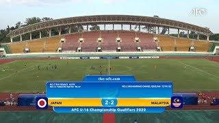 AFC U16 Qualifiers 2020 Group J : JAPAN 2-2 MALAYSIA
