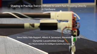 Shaping in Practice: Training Wheels to Learn Fast Hopping Directly in Hardware