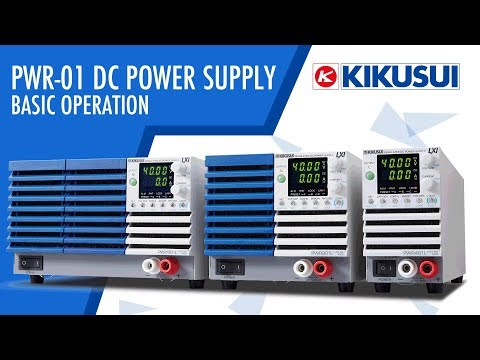 Video of Kikusui PWR 01 Basic operation