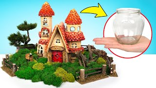 Fairies In Town! Building A Fairy House From Jars And Сlays