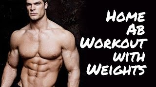 Best Home Ab Workout with Weights by Buff Dudes