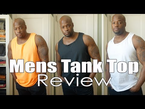Mens Tank Top samples (lets try them on)