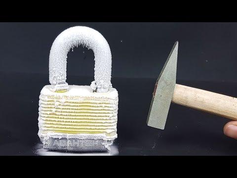 Science Experiment LIQUID NITROGEN vs LOCK