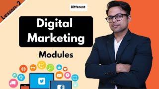 Lesson-2:  Digital Marketing Modules