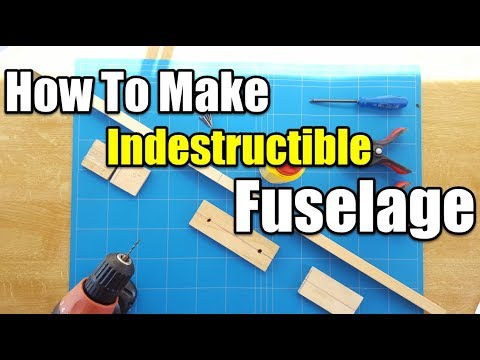 [How To Make a Indestructible Fuselage] $5 Trainer Best Beginner Rc Airplane Project EP4