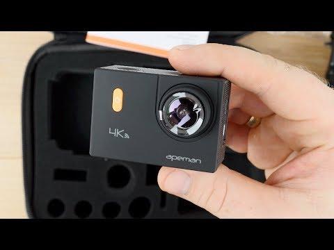Apeman 4k (A80) Actioncam // Unboxing + Erster Test (Video+Audio) // Unter 100 Euro // DEUTSCH
