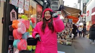 MYEONGDONG SHOPPING STREET SEOUL KOREA