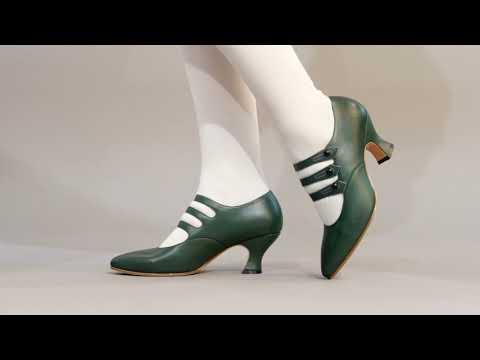 PRE-ORDER Bellatrix Women's Edwardian Shoes (Green)