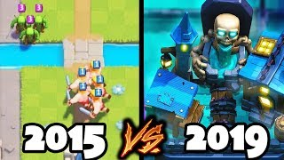 Evolution of Clash Royale - 2015 to 2019