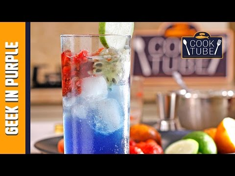 Video Minuman Segar Geekin Purple with Chef Kong | Cook Tube