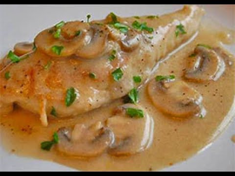 Chicken piccata with Bechamel Sauce and Mushrooms (2)بيكاتا الدجاج بالمشروم