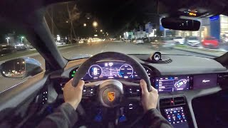2020 Porsche Taycan 4S Performance Battery Plus POV Night Drive (3D Audio)(ASMR) by MilesPerHr