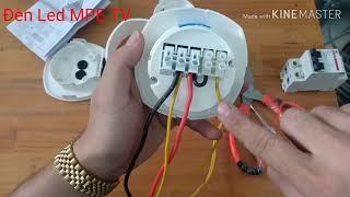 Cách lắp đặt cảm biến chuyển động qua bóng đèn Led và chuông báo khách, chống trộm Honeywell