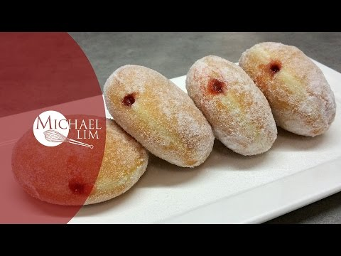Strawberry Jam Donuts