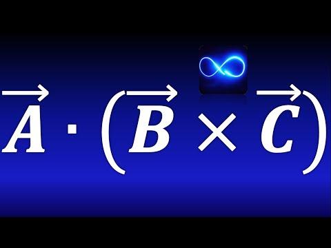 Producto triple (Producto mixto) de 3 vectores (producto punto y producto cruz) | Cálculo