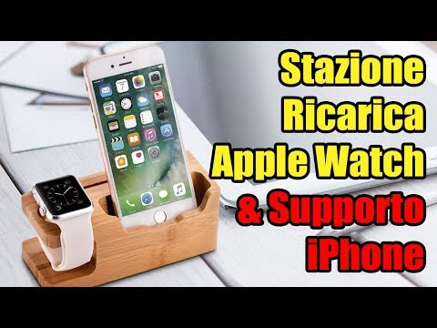 AMIR Stazione ricarica per iphone e Apple Watch in Bambù review & unboxing