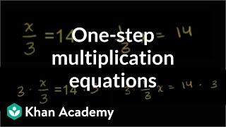 Solving One-Step Equations 2