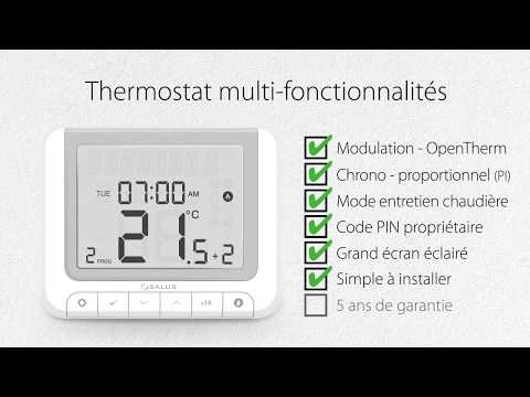 Thermostat programmable Opentherm RT520RF