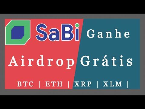 Ganhe BTC | ETH | XRP | XLM | EOS Grátis no Airdrop da Exchange  SaBi !