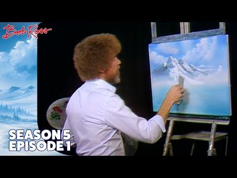 Bob Ross - Mountain Waterfall (Season 5 Episode 1)