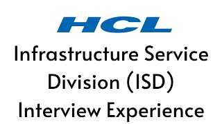 HCL Interview Experience