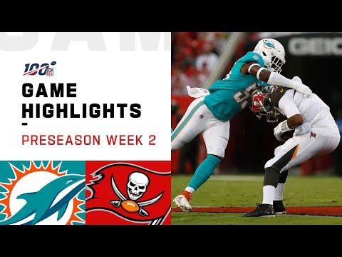Dolphins vs. Buccaneers Preseason Week 2 Highlights | NFL 2019