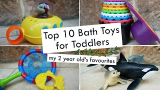 TOP BATH TOYS FOR TODDLERS | My two year old's favourite bath toys
