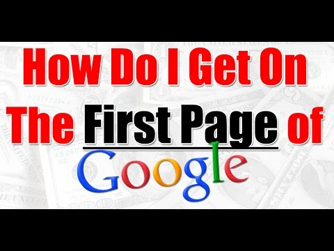 Get your Webpage to the Top of Google Search