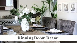 NEW!!! Decorate With Me Rustic Glam Dinning Room Decor 🏡