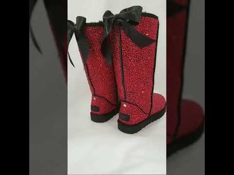 Scarlet Red Swarovski® Ugg Boots