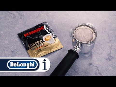 How to make espresso coffee using E.S.E pods on your Dedica Pump Coffee Maker EC680 and EC685