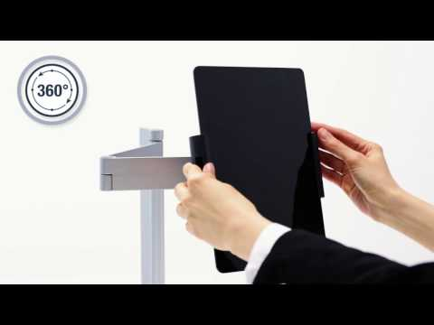 TABLET HOLDER TABLE CLAMP - with a movable support arm with individual adjustment facility | DURABLE