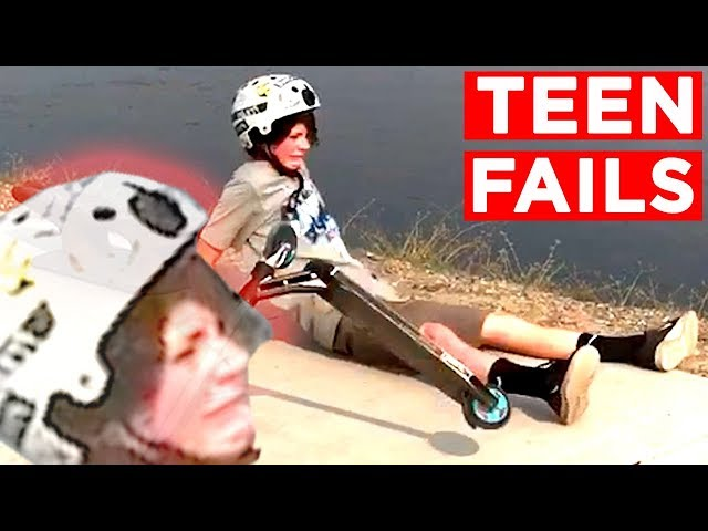 FUNNY TEENAGER FAILS!!   Candid And Viral Teen Fails And Bloopers From IG, FB And More   Mas Supreme