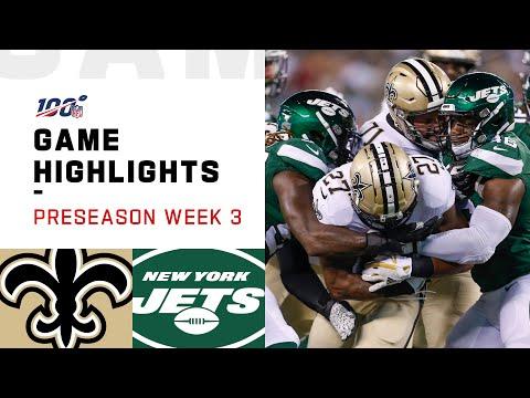 Saints vs. Jets Preseason Week 3 Highlights   NFL 2019