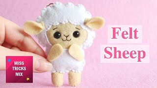 DIY: Cute Sheep Felt Keychain | Kawaii Crafts.