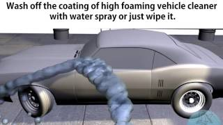 High foaming vehicle cleaner