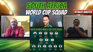 South Africa World Cup Squad | Detailed Analysis | Caught Behind