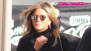 Jennifer Aniston Is Casual Chic While Arriving To Jimmy Kimmel Live! Studios In Hollywood 12.5.17